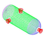 Wire Mesh preparation for FEA Finite Element Analysis on Pressure Vessel